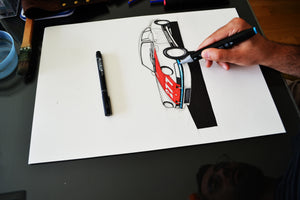 Magnus Walker 911-Unframed (Original Drawing)