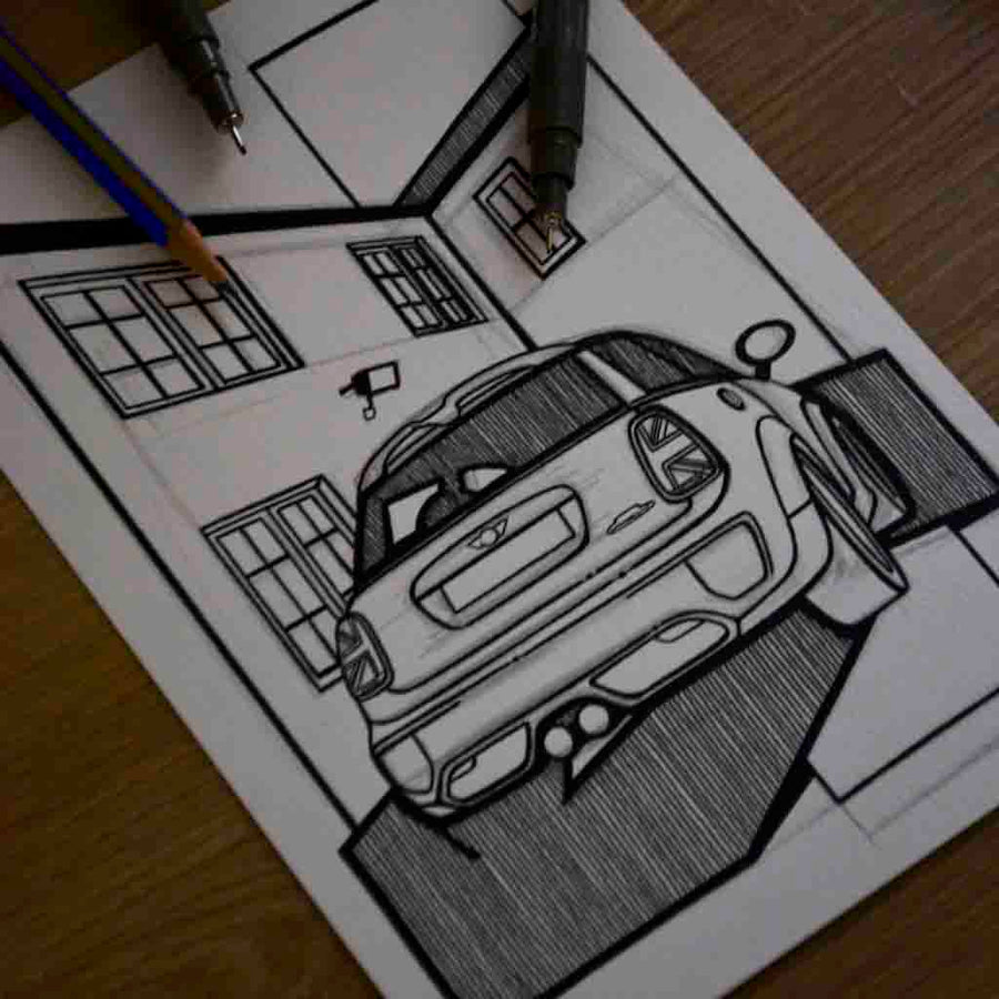 Inspiration from @rebeljcw /MINI F56 Handmade Artwork and Coloring Pages (Option Puzzle)