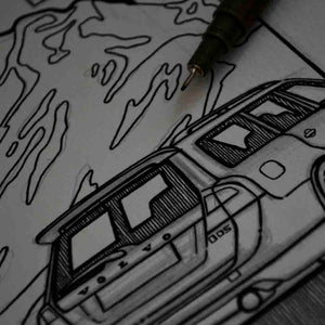 Inspiration from @halvdan_honigbart /VOLVO V70 Handmade Artwork and Coloring Pages (Option Puzzle)