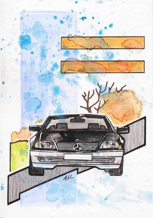 Inspiration from @300sl_r129 's R129 / Handmade Artwork and Coloring Pages (Option Puzzle)