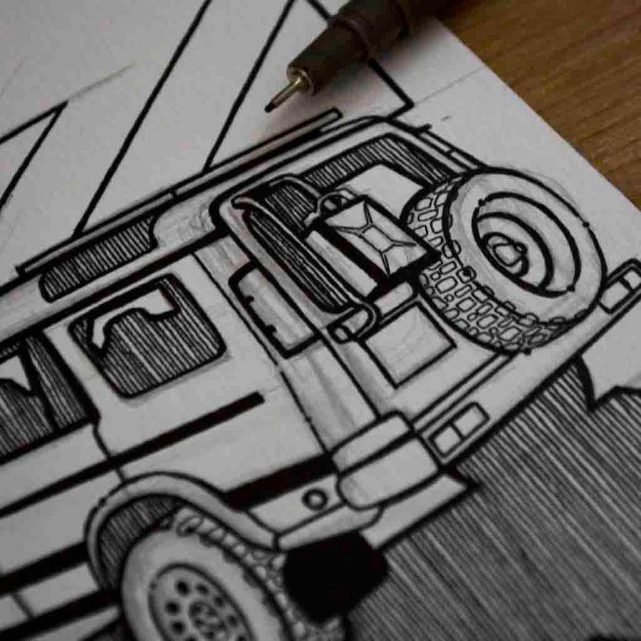 Inspiration from @matt_ske /Land Rover Discovery Handmade Artwork and Coloring Pages (Option Puzzle)