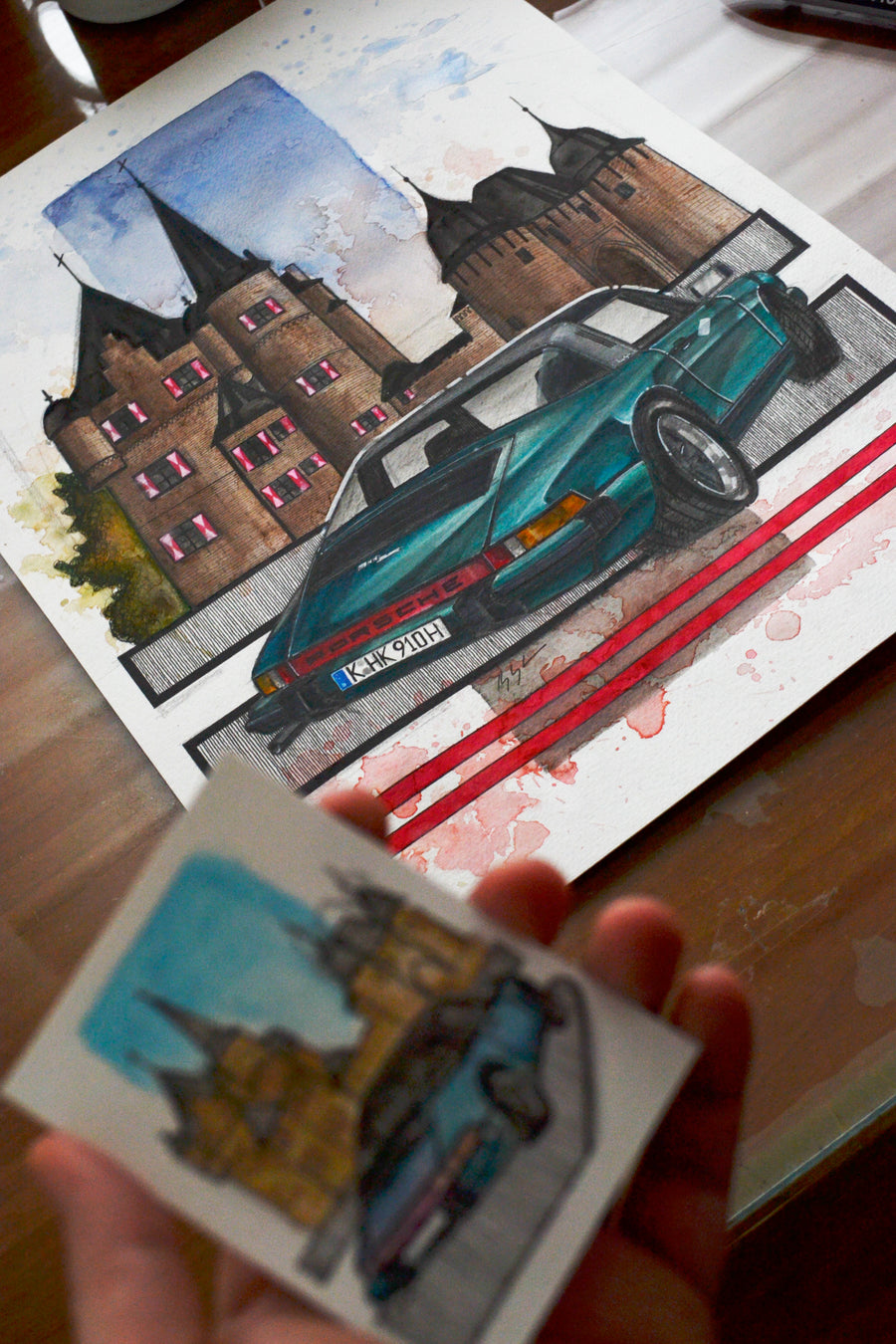 Inspiration from @sirshutter's 911 Targa/ Handmade Artwork