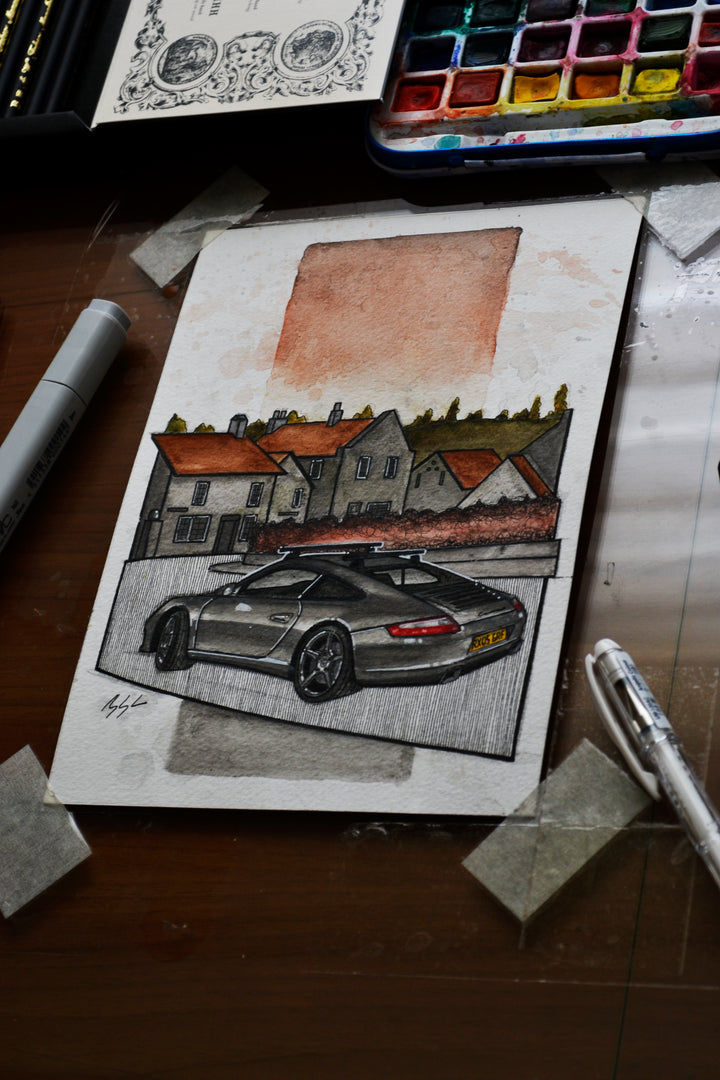 Inspiration from @997ducktrip's Porsche 997 / Handmade Artwork