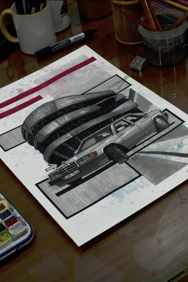Inspiration from @benztv_201 's W201 / Handmade Artwork