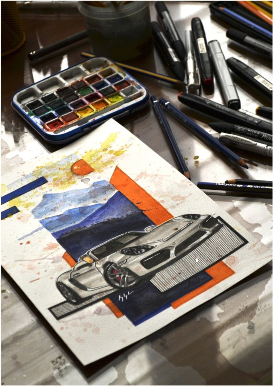 Inspiration from @katereon981 's 981 Boxster / Handmade Artwork