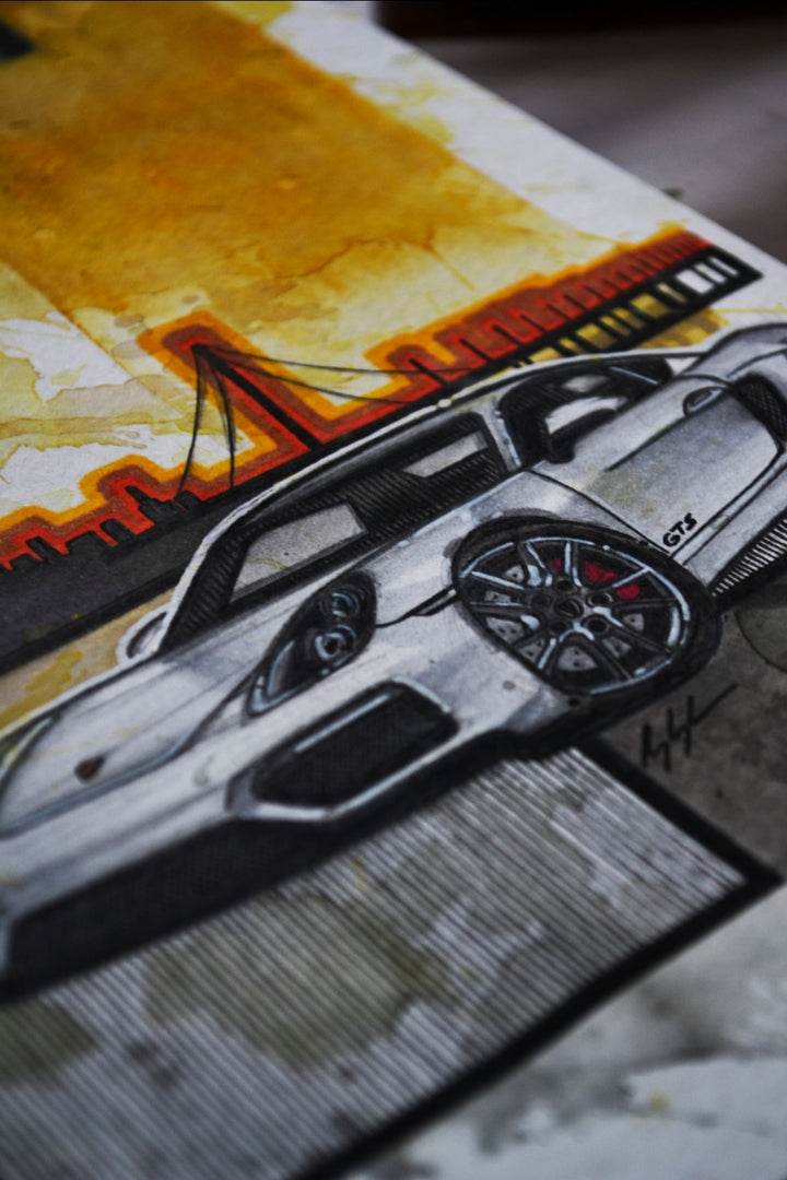 Inspiration from @cntzl.981 's 981 Cayman GTS / Handmade Artwork