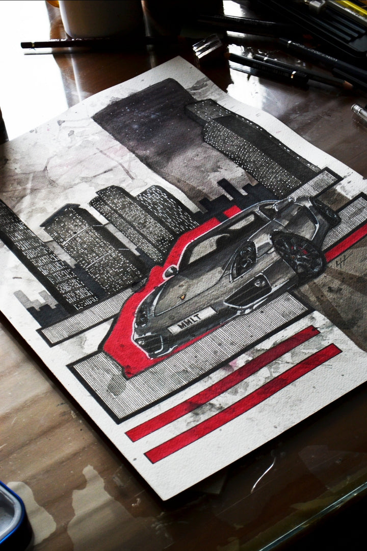 Inspiration from @981.mmlt 's 981 Cayman / Handmade Artwork