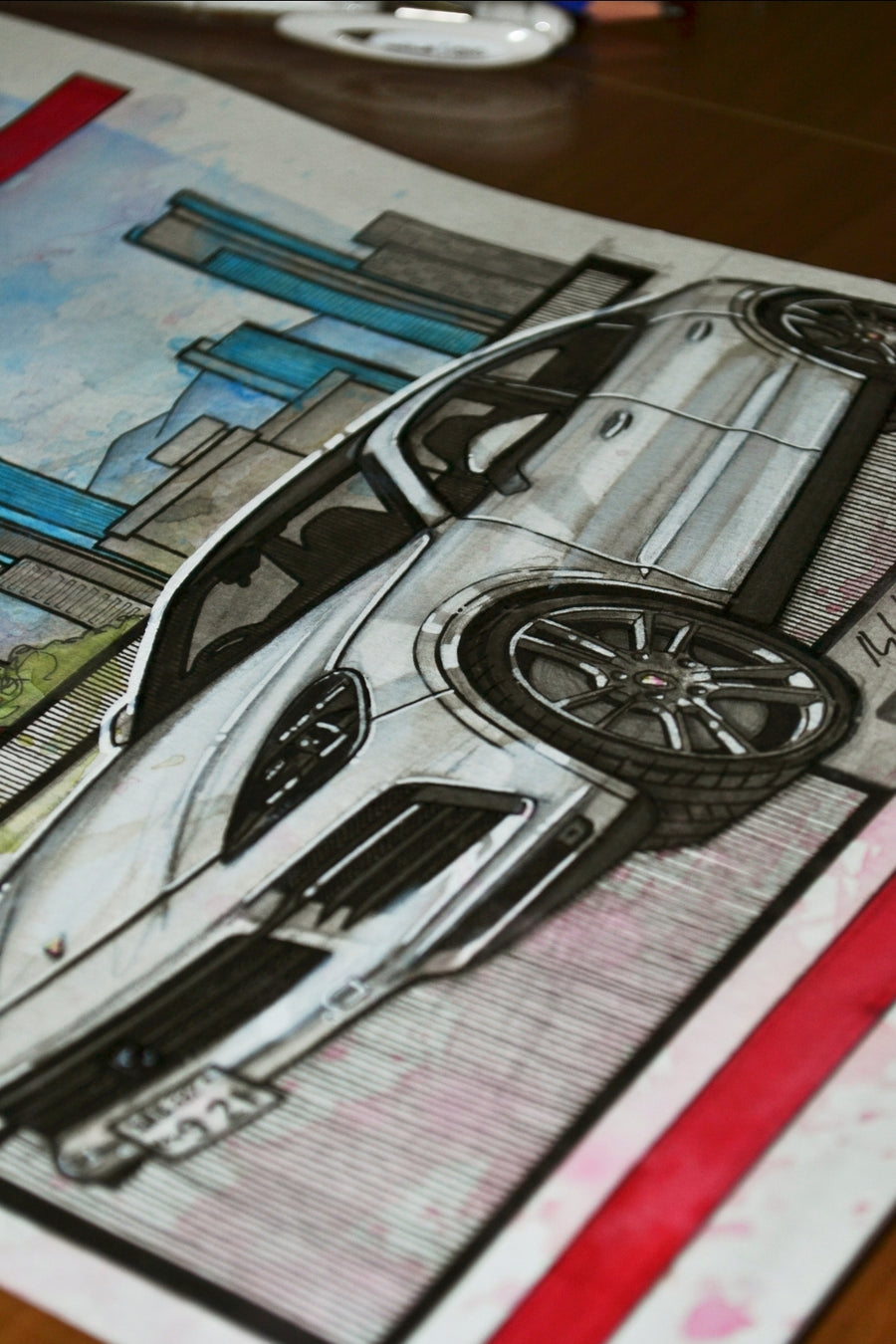 Inspiration from @yumi_s_cayennes 's Cayenne S Coupe / Handmade Artwork