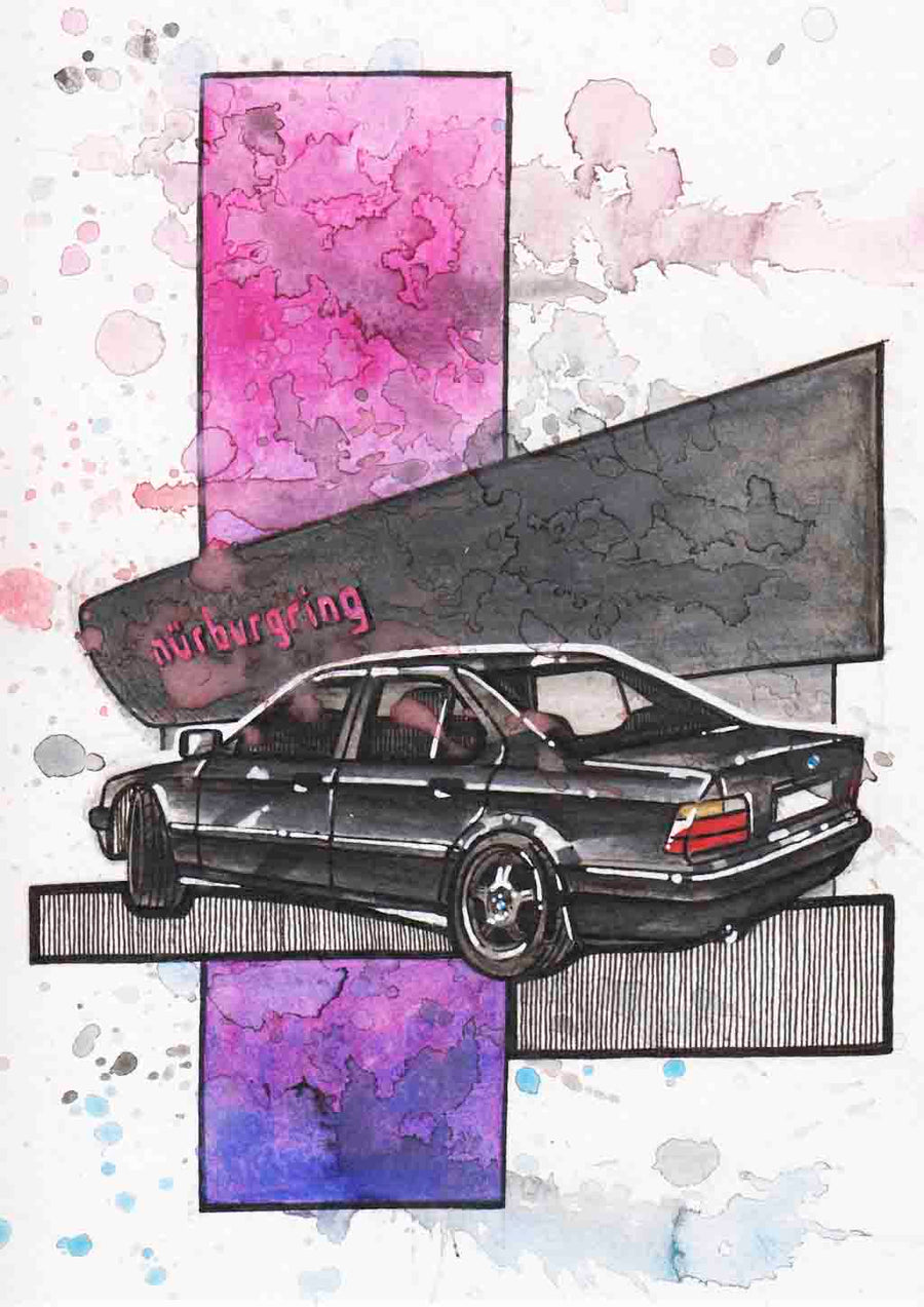 Inspiration from @laura.e36 /BMW E36 Handmade Artwork and Coloring Pages (Option Puzzle)