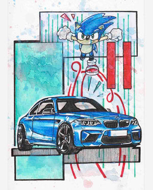 Inspiration from @m2_lbb /BMW M2 Handmade Artwork and Coloring Pages (Option Puzzle)