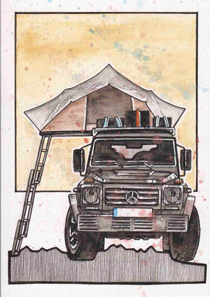 Inspiration from @tobleob /Mercedes-Benz G-WAGON Handmade Artwork and Coloring Pages (Option Puzzle)