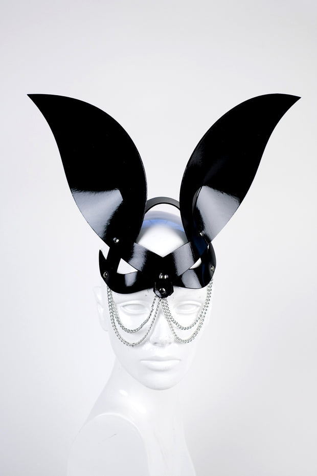 Bunny Mistress Black Vinyl Chain