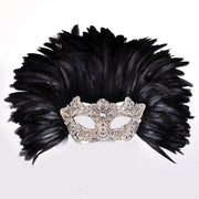 Masquerade Mask Feather Reale Macramè