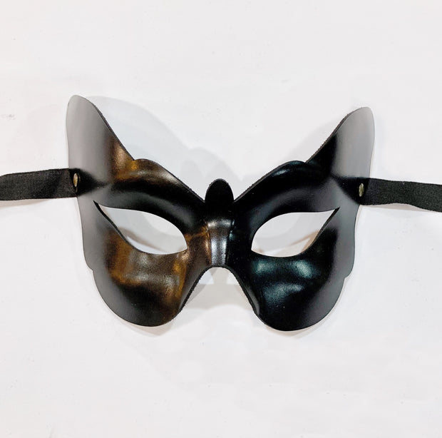 Butterfly Leather Mask Black