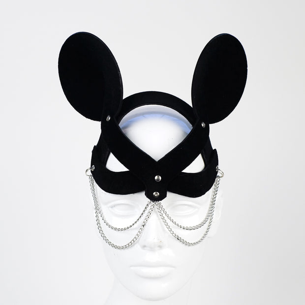 Minnie Mistress Mask Black Velvet Chain