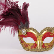 Detail eye_mask_can_can_gold_bordeaux