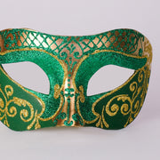 Detail eye_mask_settecento_brill_gold_green