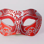 Detail eye_mask_settecento_brill_silver_red
