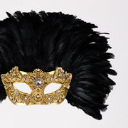 Detail eye_mask_piume_reale_macrama_gold_black
