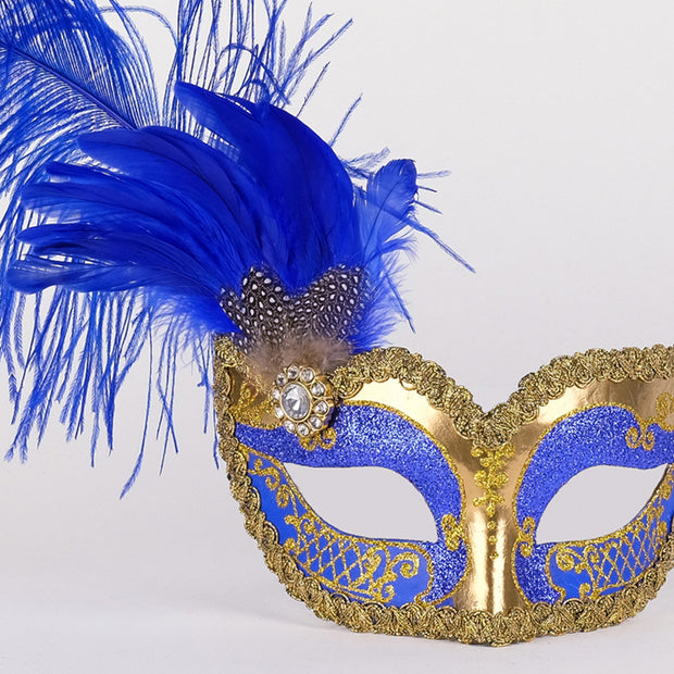 Detail eye_mask_can_can_gold_blue
