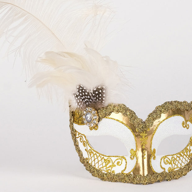Detail eye_mask_can_can_gold_white