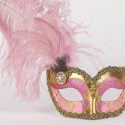 Detail eye_mask_can_can_gold_pink