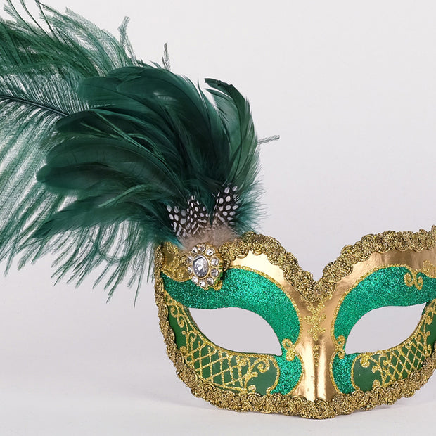 Detail eye_mask_can_can_gold_green