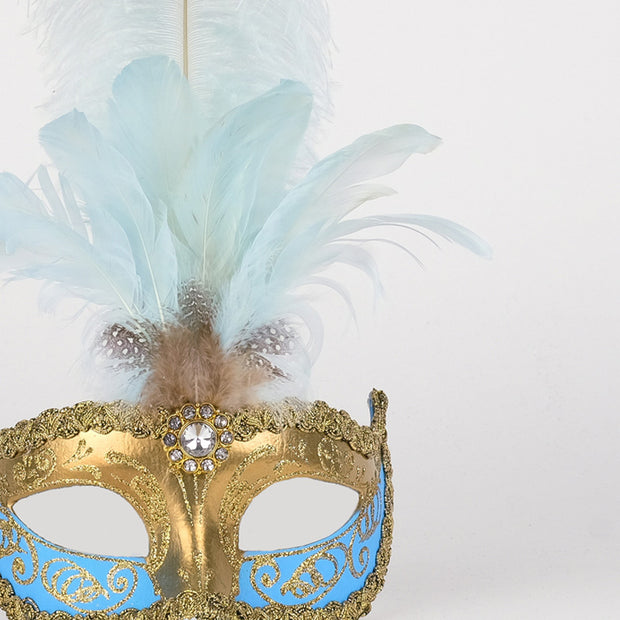 Detail eye_mask_sisi_gold_sky_blue