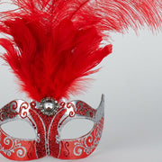 Detail eye_mask_piume_silver_red