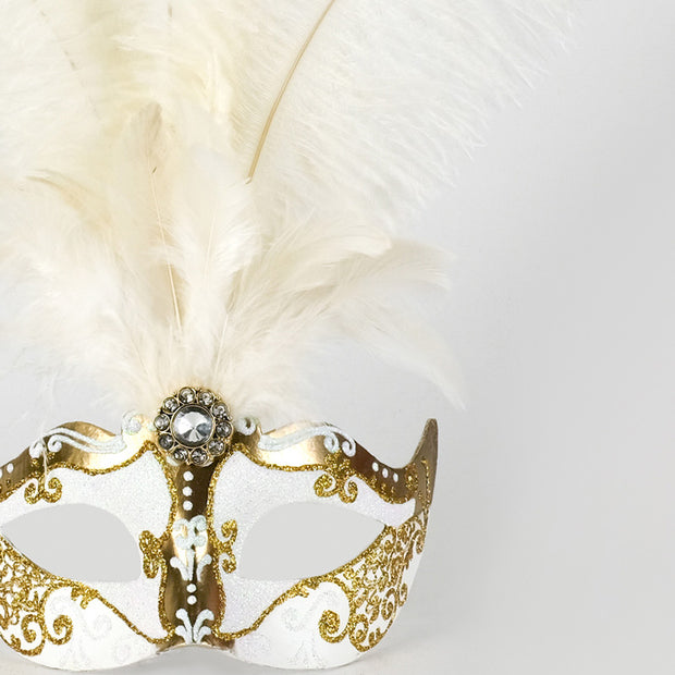 Detail eye_mask_piume_stella_gold_white