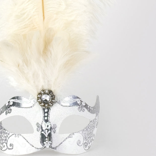 Detail eye_mask_piume_silver_white