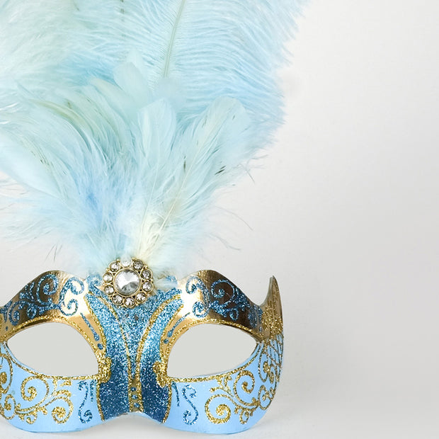 Detail eye_mask_piume_stella_gold_sky_blue