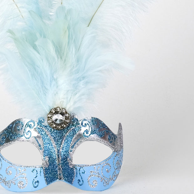Detail eye_mask_piume_silver_sky_blue