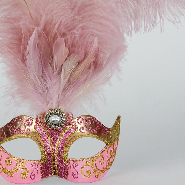 Detail eye_mask_piume_stella_gold_pink
