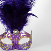 Detail eye_mask_piume_stella_gold_purple