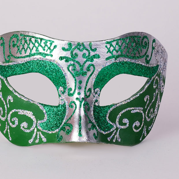 Detail eye_mask_settecento_brill_silver_green