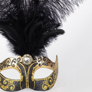 Detail eye_mask_piume_stella_gold_black