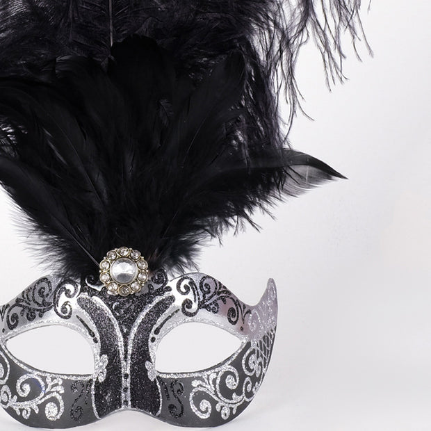 Detail eye_mask_piume_stella_silver_black