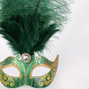 Detail eye_mask_piume_stella_gold_green