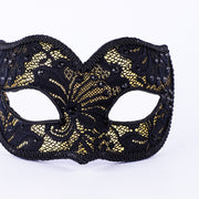Detail eye_mask_macrama_ballo_pizzo_gold_black