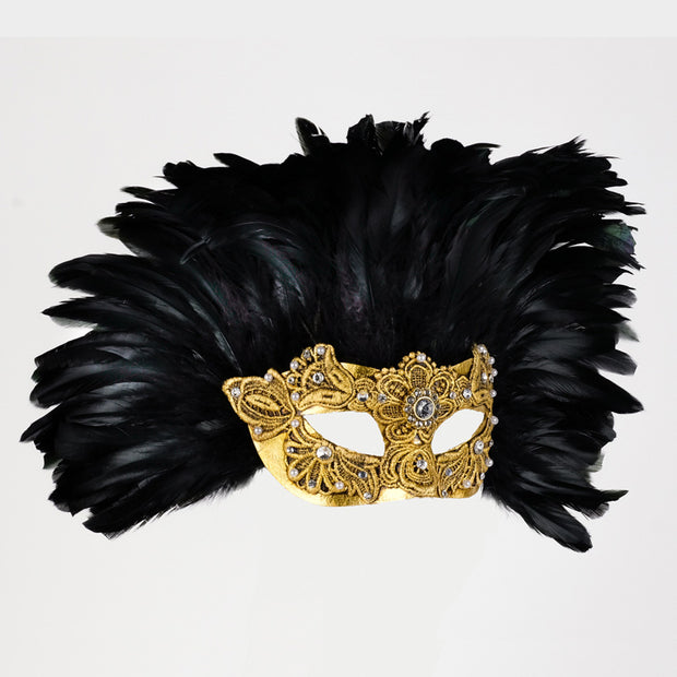 Profile eye_mask_piume_reale_macrama_gold_black