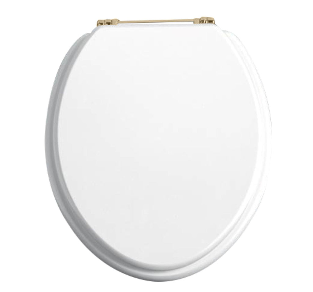 HB - Toilet Seat White / Gold