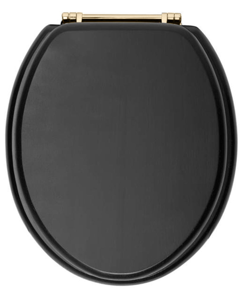 HB - Toilet Seat Black / Gold