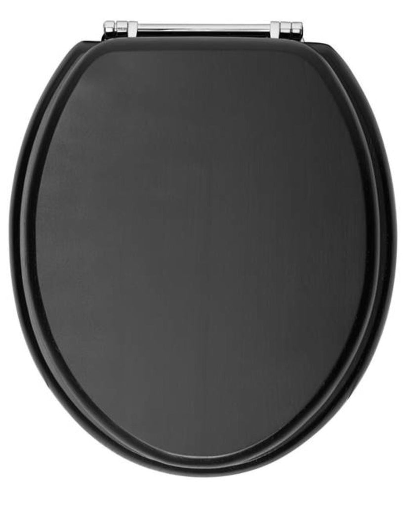 HB - Toilet Seat Black / Chrome