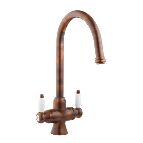 Victorain Kitchen Tap - Porcelain Levers