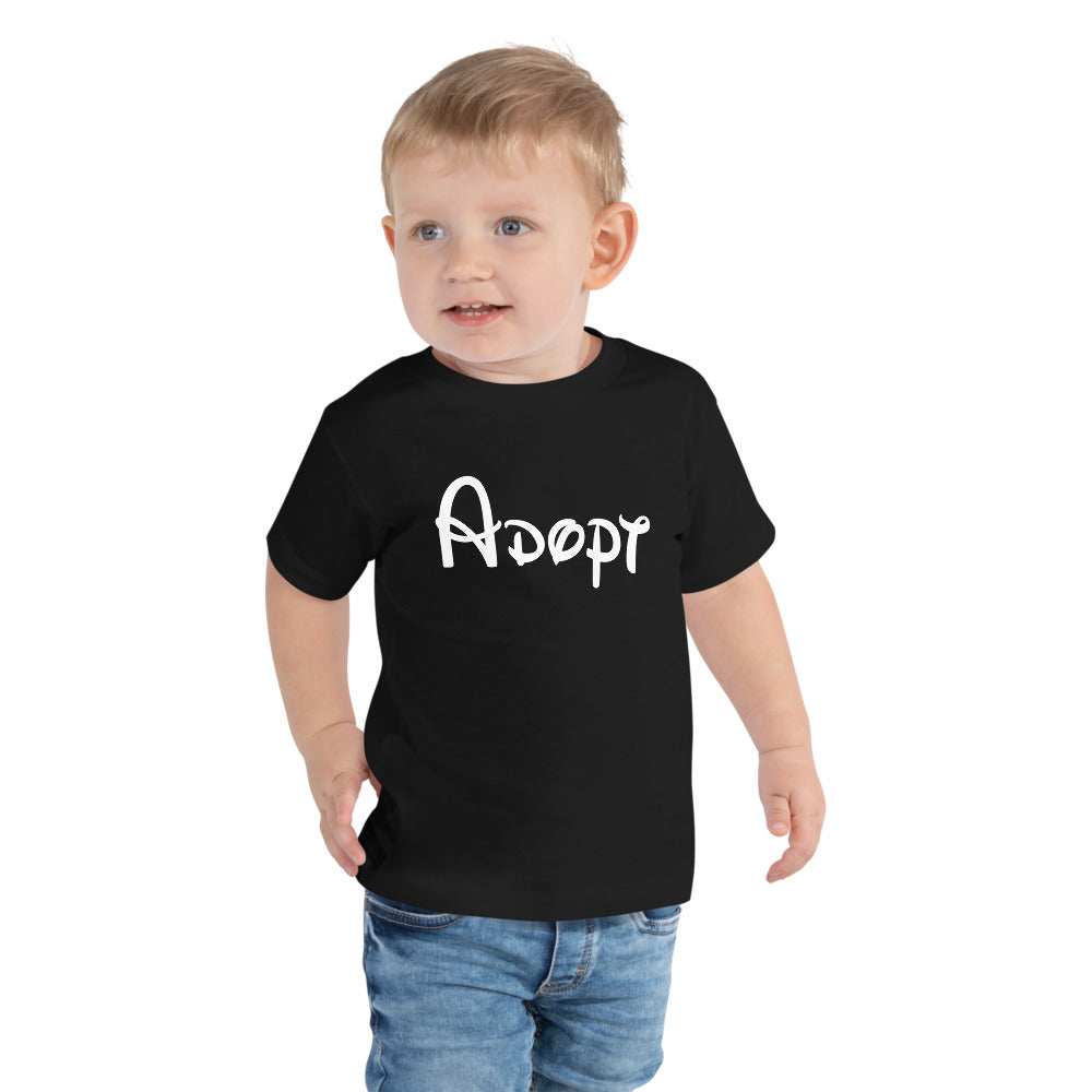Adopt | Walt Disney | Toddler T-Shirt - Black