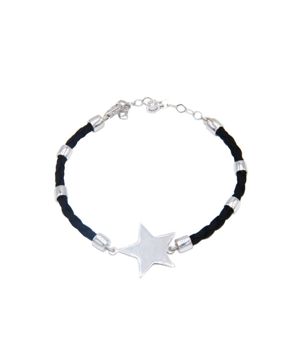 Star Leather Bracelet