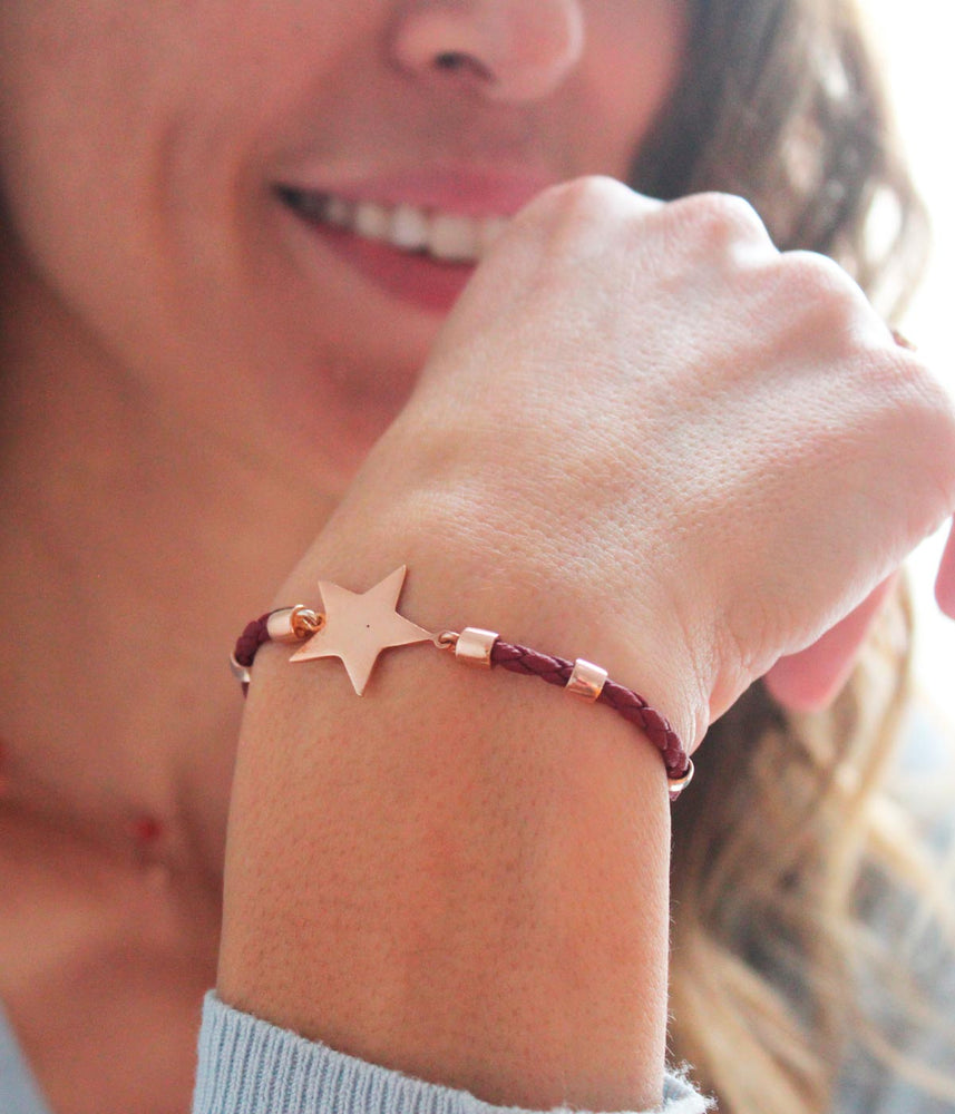Begna Model Star Leather Bracelet