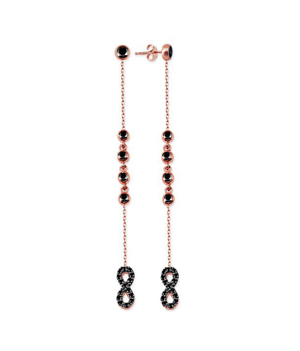 Infinity Earrings Black Stone