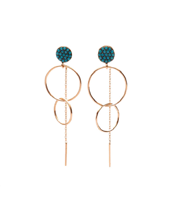 Begna Swinging Circle Earrings
